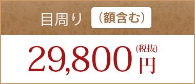 目回り(額含む)29,800円