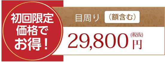 初回限定価格でお得!目回り(額含む)29,800円